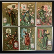 LIEBIG - 1883/85 -Insects-Women - 6 fig.