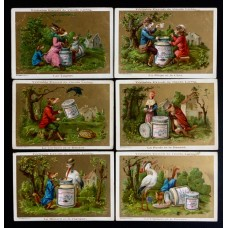 LIEBIG - 1883/85 - Fables of La Fontaine 1° - 6 fig.